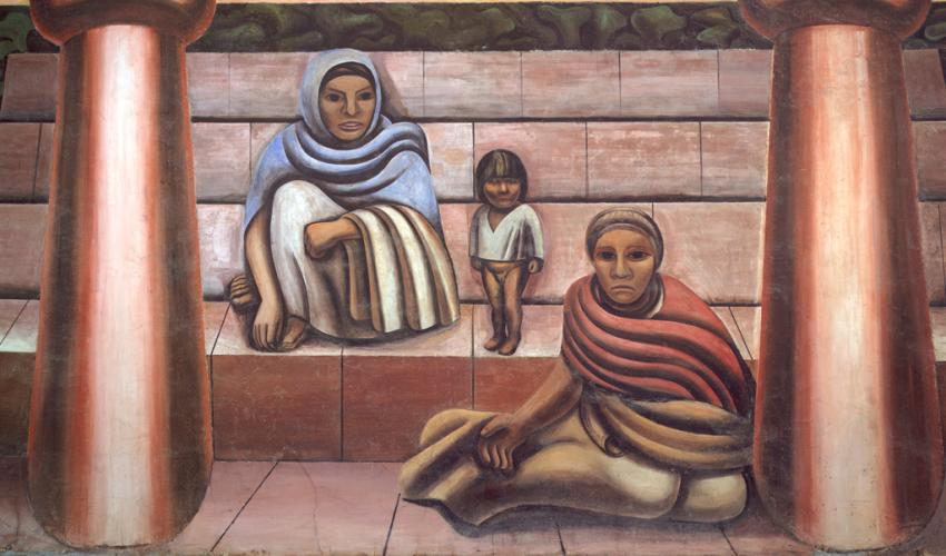 Portrait of mexico today santa barbara museum of art for David alfaro siqueiros mural tropical america