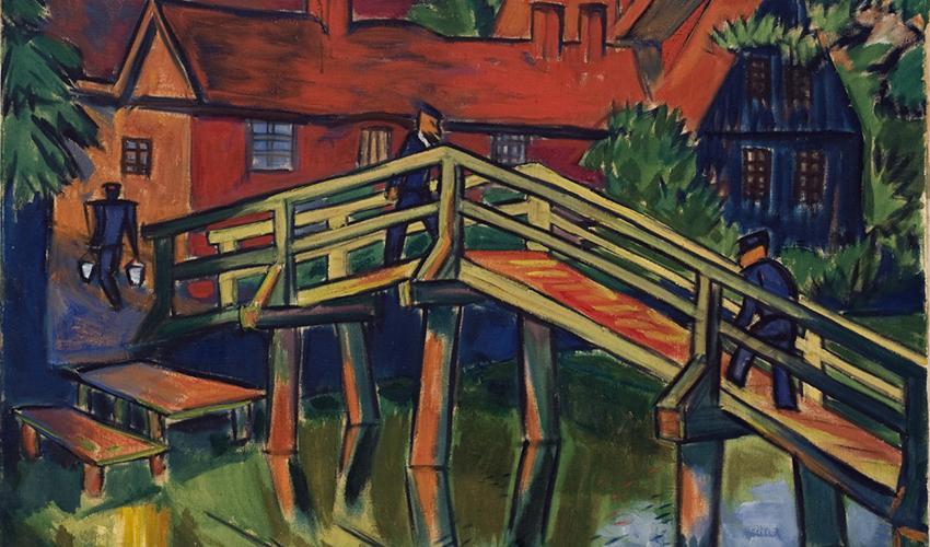 Max Pechstein German 1881 1955 Alte Brucke Detail Ca 1921 Oil On Canvas 31 X 39 In Gift Of The Joseph B And Ann S Koepfli Trust 2017 2